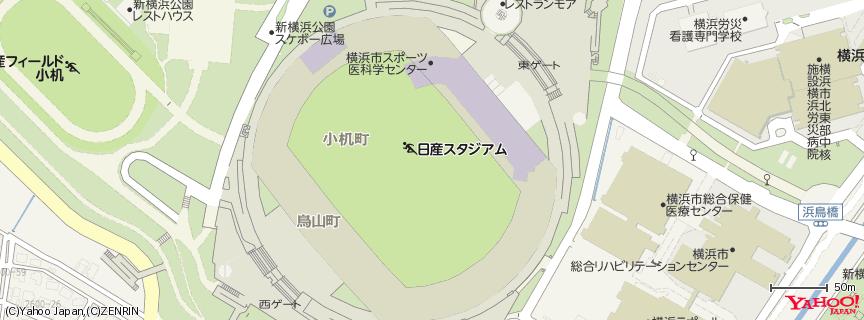 日産スタジアム 地図