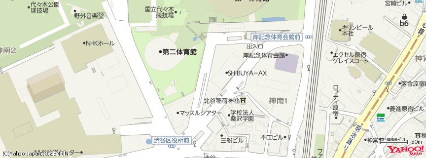 Shibuya Ax 地図