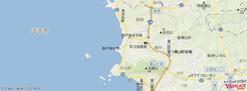 森戸海岸 地図