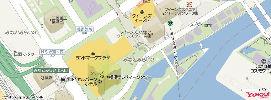 ハードロックカフェ横浜 地図