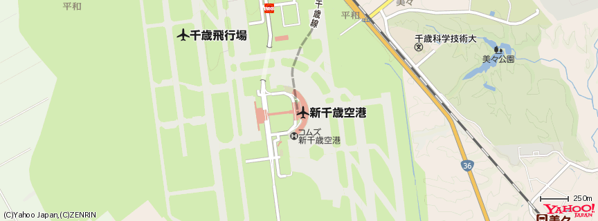 新千歳空港 地図