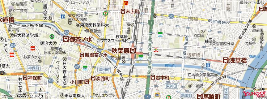 秋葉原駅 Akihabara Station 地図