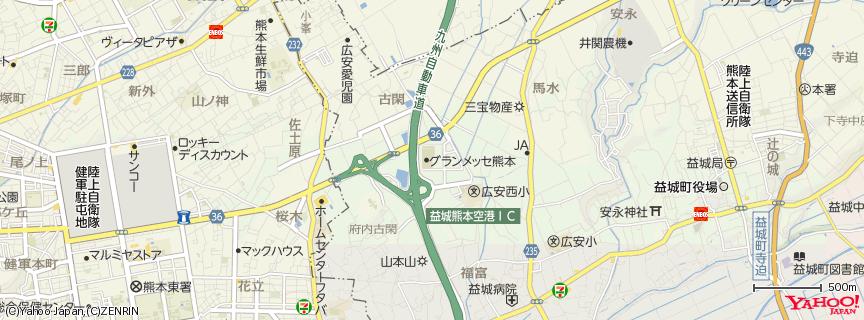 熊本産業展示場 グランメッセ熊本 地図