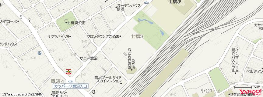 フロンタウンさぎぬま 地図