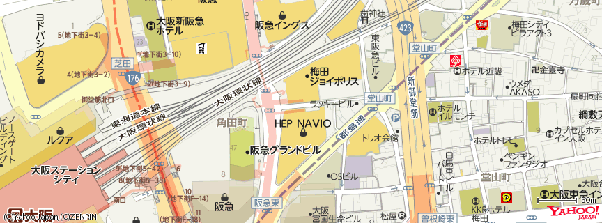 TOHOシネマズ梅田 地図