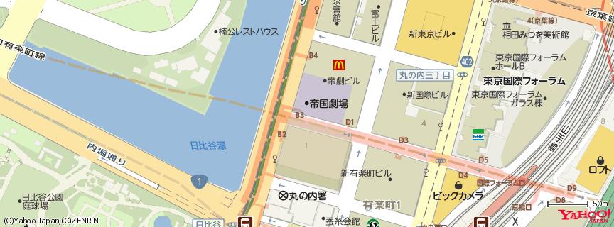 帝国劇場 地図