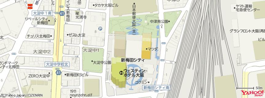 空中庭園展望台 地図