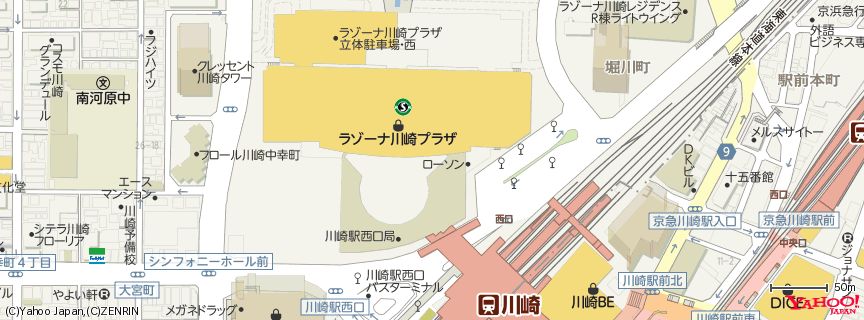 109シネマズ川崎 地図