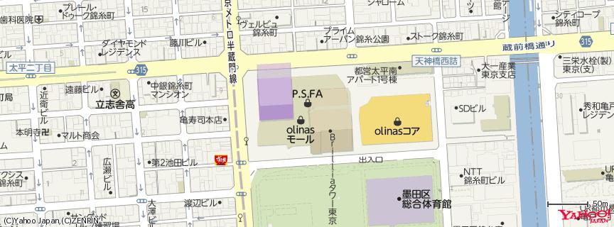 TOHOシネマズ錦糸町 地図