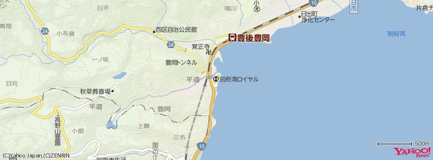 別府湾ロイヤルホテル 地図