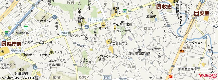 第一牧志公設市場 地図