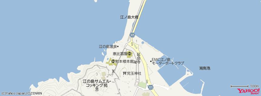 江の島 Enoshima 地図