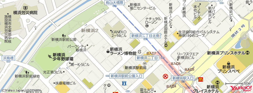 新横浜ラーメン博物館 Shin-Yokohama Raumen Museum 地図