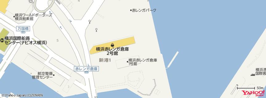 Bills 横浜赤レンガ倉庫 地図
