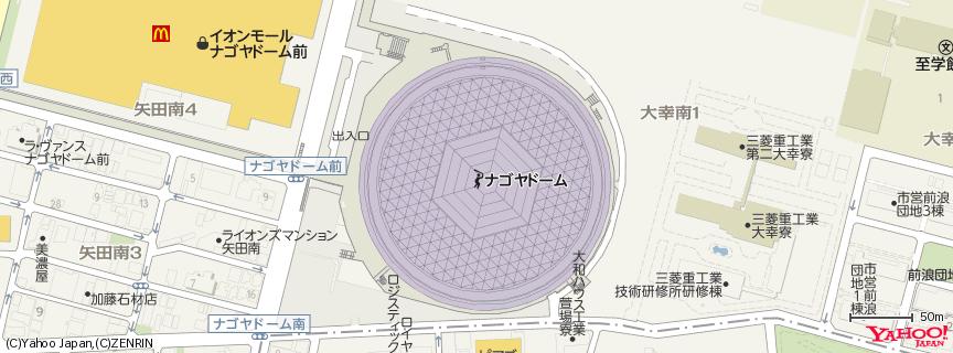 ナゴヤドーム 地図