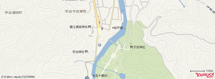 伊勢神宮 内宮 地図