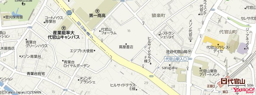代官山 蔦屋書店 DAIKANYAMA T-SITE 地図
