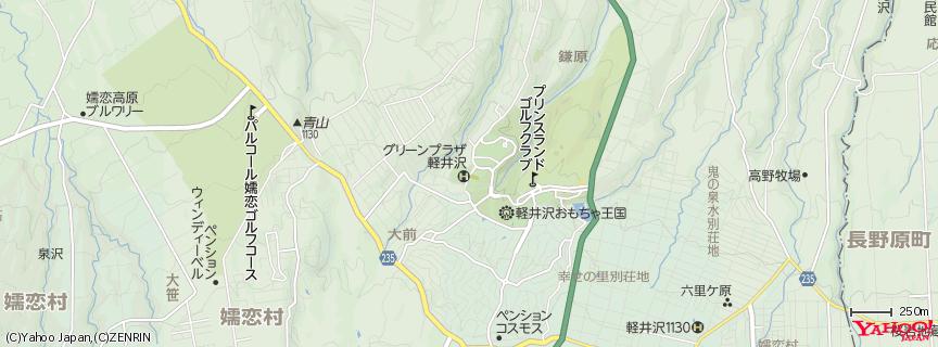ホテルグリーンプラザ軽井沢 地図