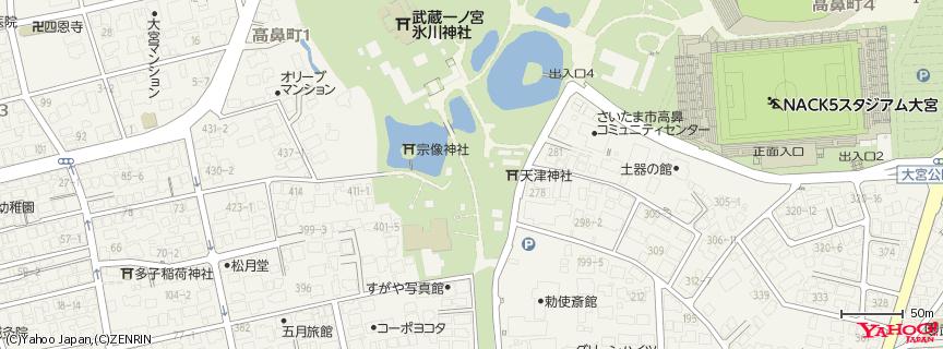 氷川神社 地図
