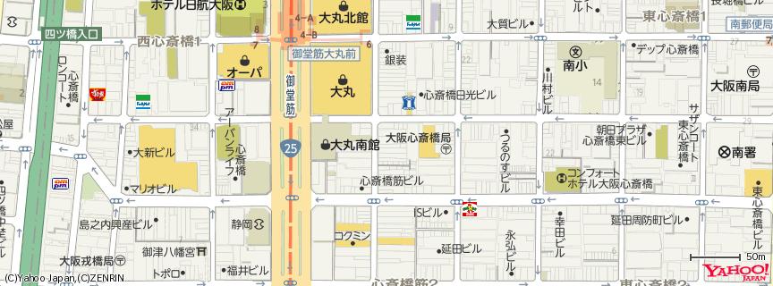 心斎橋 地図