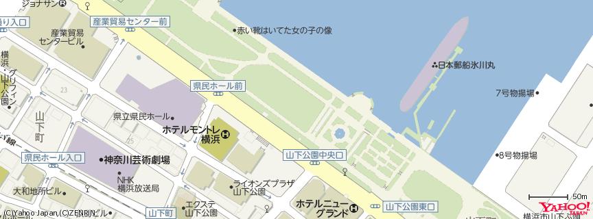 山下公園 Yamashita Park 地図