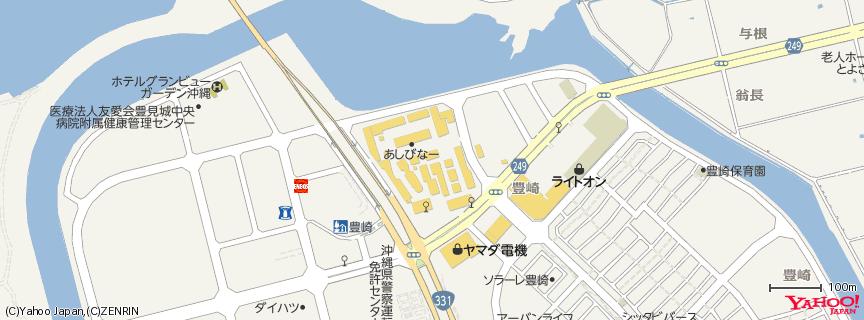 沖縄アウトレットモール あしびなー 地図