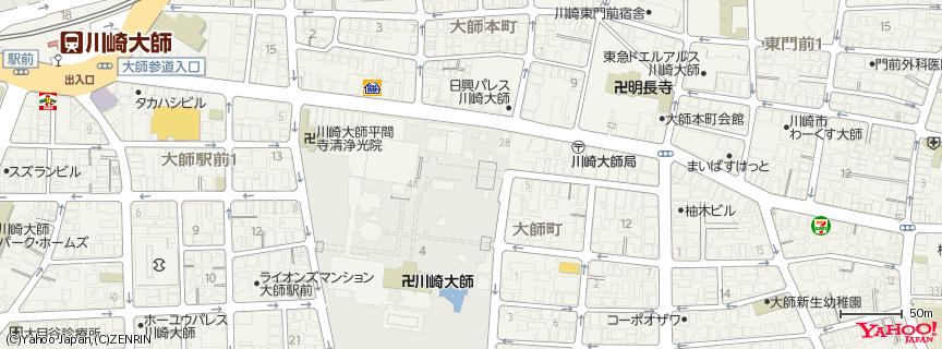 川崎大師 地図