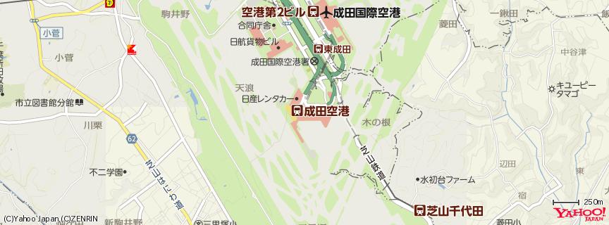 成田国際空港 第1ターミナル 地図