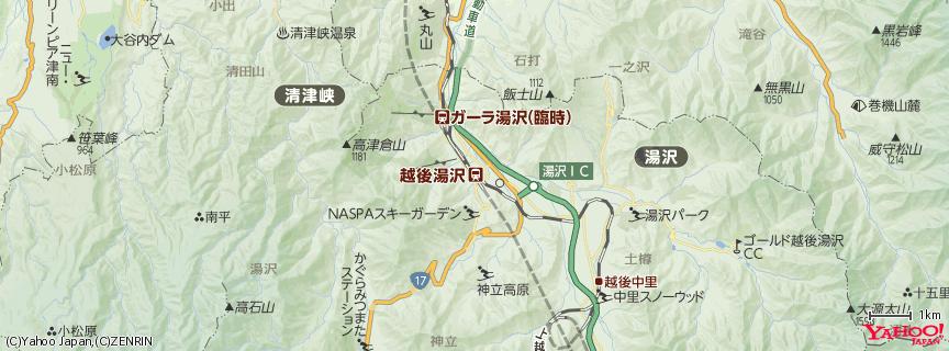 越後湯沢駅 地図