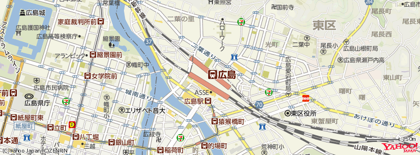 広島駅(Hiroshima Station) 地図