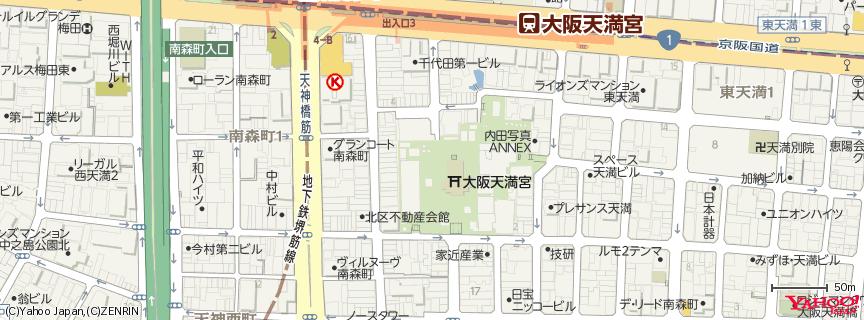 大阪天満宮 地図