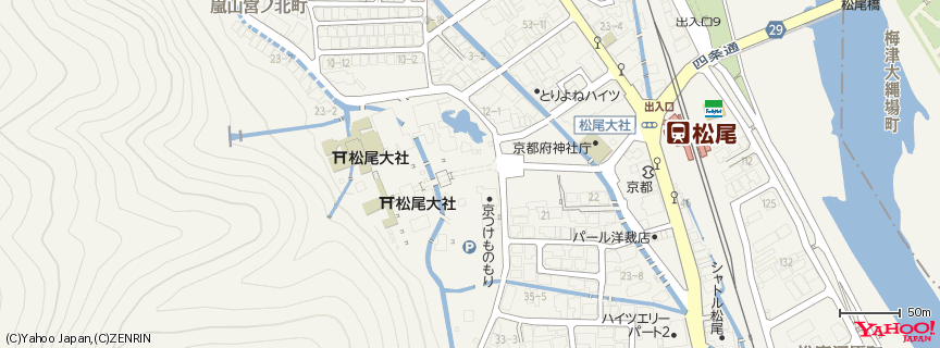 松尾大社 地図