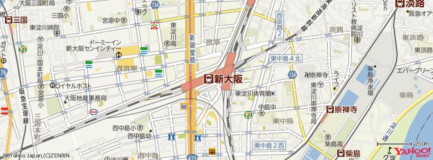 新大阪駅(Shin-Osaka station) 地図