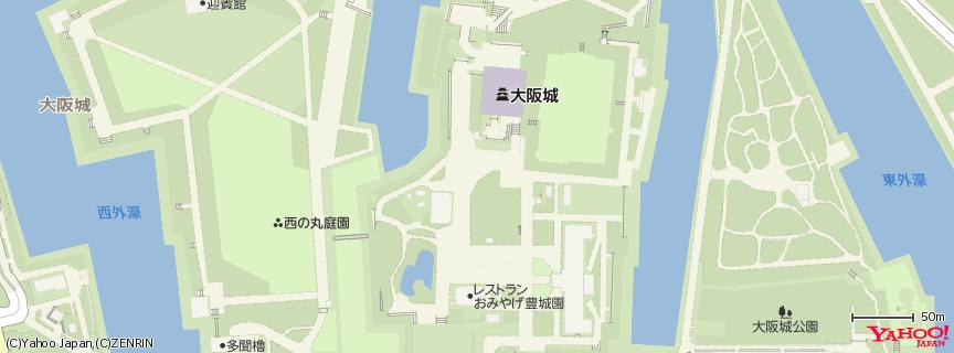 大阪城 地図