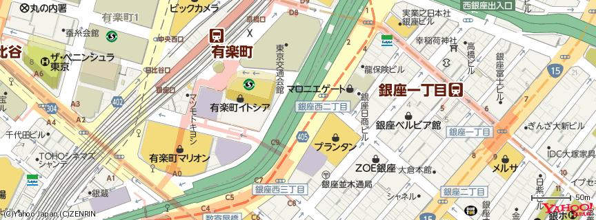 プランタン銀座 地図