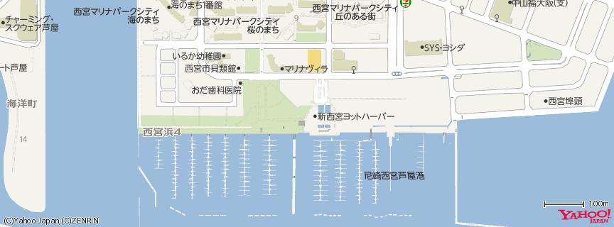 新西宮ヨットハーバー(Shin Nishinomiya Yacht Harbor) 地図