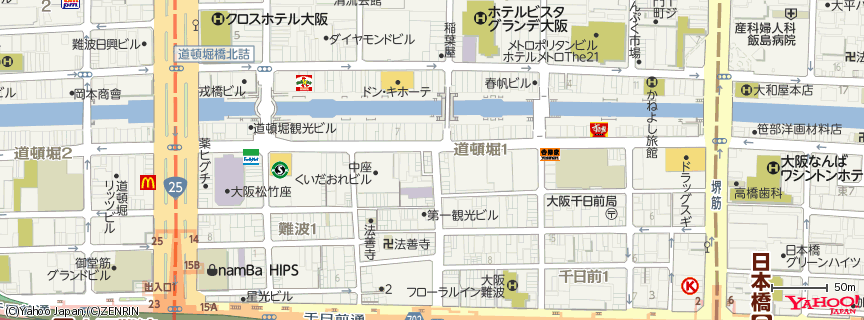 神座 心斎橋店 地図