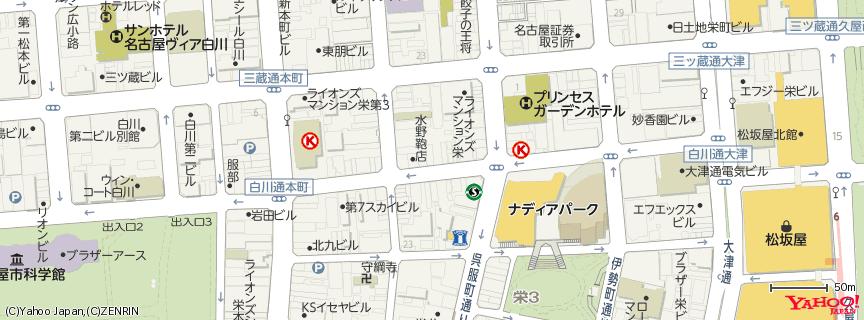 一蘭名古屋栄店 地図