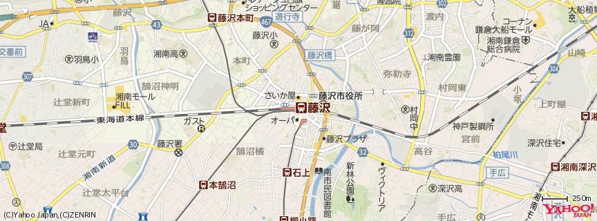藤沢駅 Fujisawa Station 地図