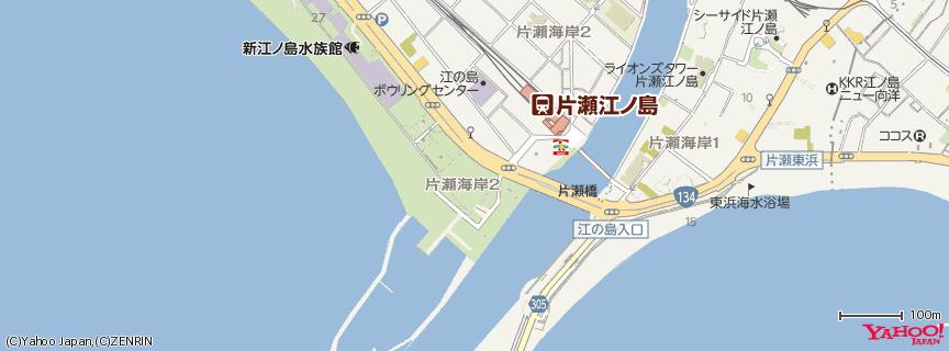 江ノ島海岸(Enoshima Beach) 地図