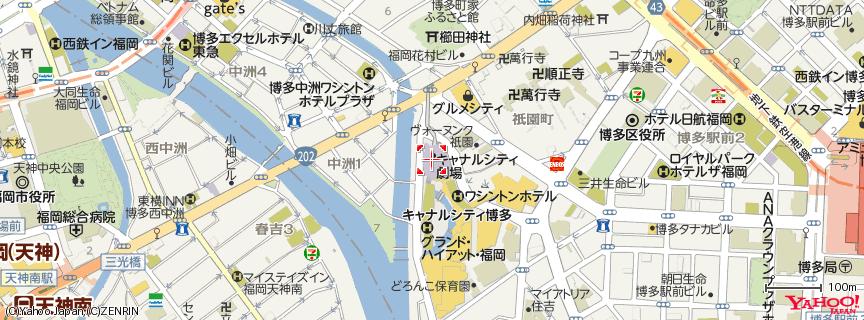 一蘭 キャナルシティ博多店 地図