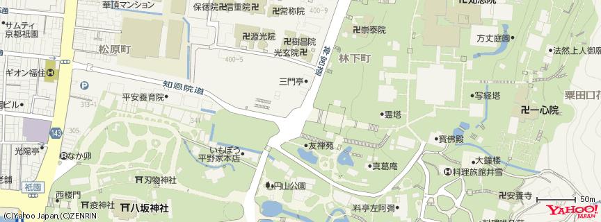 浄土宗総本山 知恩院 地図