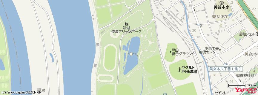 彩湖・道満グリーンパーク 地図