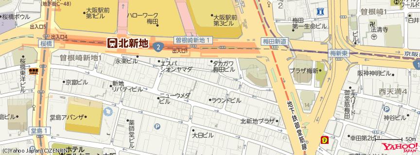 北新地 大阪市北区 : 混雑状況