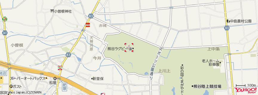 熊谷スポーツ文化公園 ラグビー場 地図