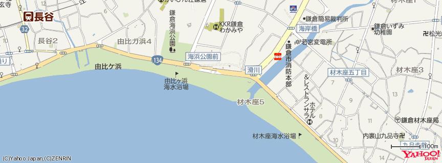 由比ヶ浜 Yuigahama Beach 地図