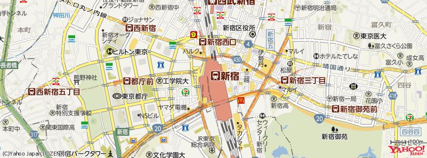 「新宿地図」の画像検索結果