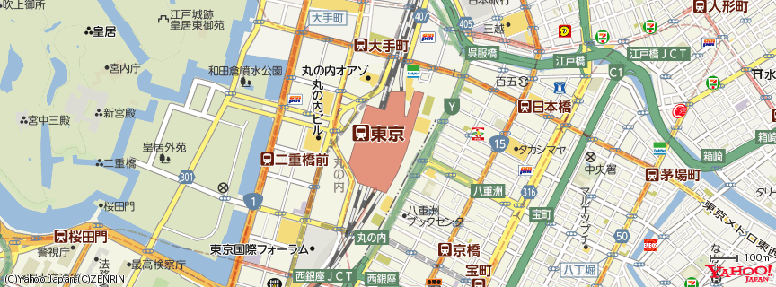 東京駅 (Tokyo Station) 地図