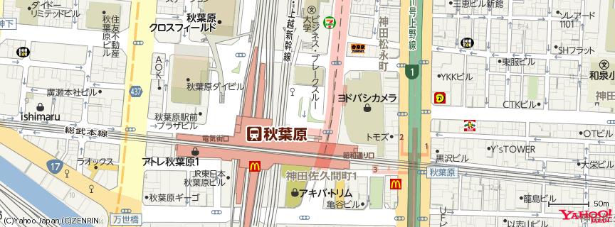 ヨドバシカメラ マルチメディアAkiba 地図