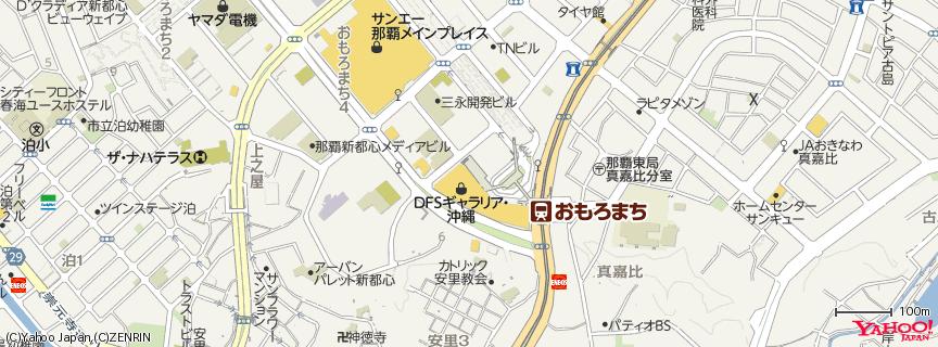 DFS GALLERIA OKINAWA 地図